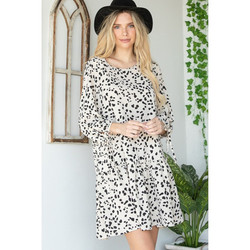 Bubble Mid Sleeve Dress