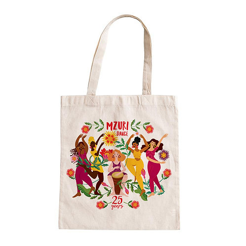 25 Year Birthday - Large Tote bag with green leaves