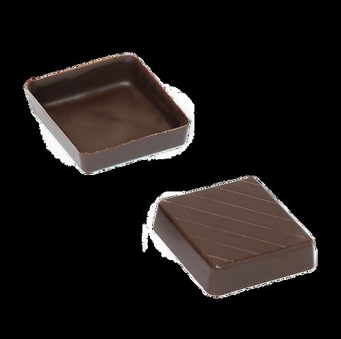 קערית מרובעת, דקה ונמוכה משוקולד מריר