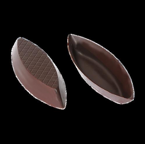 קעריות קטנות משוקולד מריר בצורת סירה