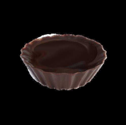 קערית עגולה ונמוכה בצורת עטרה משוקולד מריר