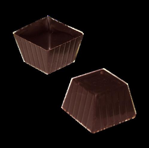 קערית מרובעות בצורת עטרה משוקולד מריר