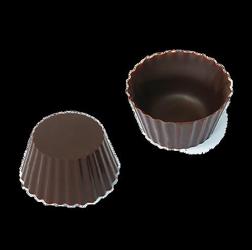 קעריות קטנות משוקולד מריר בצורת עטרה
