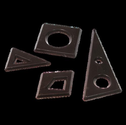 דפי שוקולד מריר בצורות גאומטריות שונות