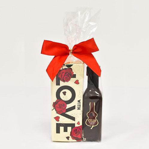 ליקר שוקולד ופרליני אהבה
