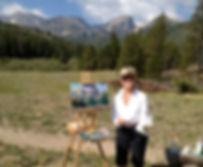 Rebecca Holman watercolors, plein air paintings