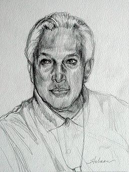 Rebecca Holman Portraits, sketch, charcol commissions