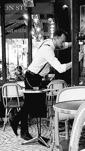 Paris restauran, waiter,