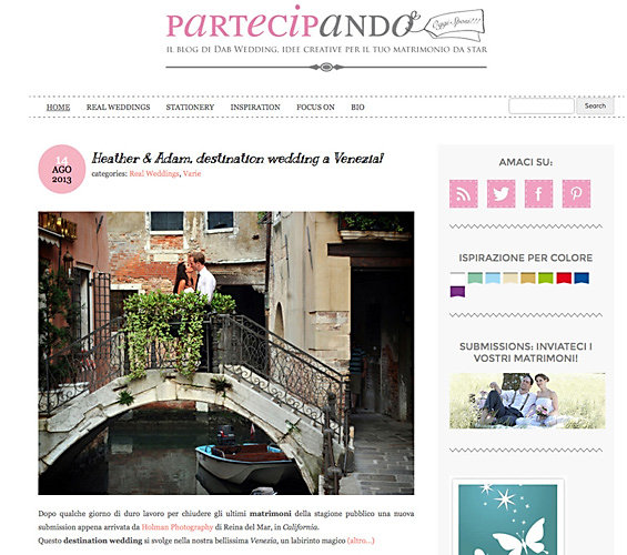 Partecipando Wedding Magazine for Italian Weddings