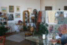 Becky Holman artist studio, paintings