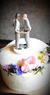 Same sex wedding cake, wedding details by Holman Photography