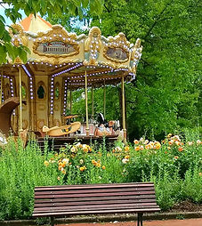 Bordeaux, France, carousel, jardin publique, garden, Holman Photography, travel photographer