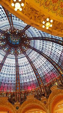 paris, coupole, department store, galleries lafayette