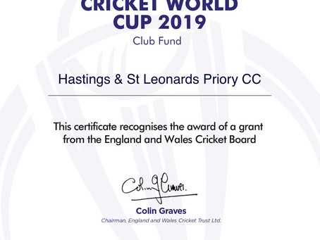 ICC Recognition of Club's Award