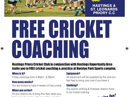 FREE Cricket Coaching for Kids