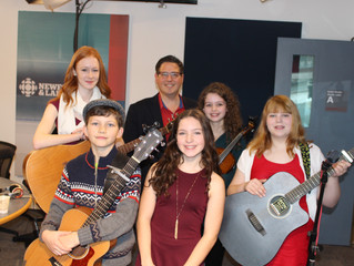 Lots of fun at The St. John's Morning Show on CBC!!!