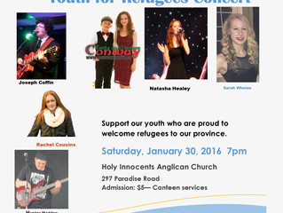 "Conway performing at ""Youth for Refugees"" Concert Jan 30"