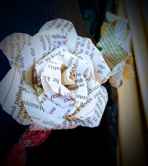 """""""pages of flowers"""", fiction to fashion exhibition, cameron art museum"""