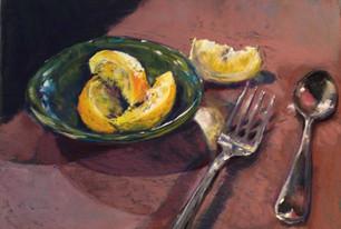 Lemons in Green Bowl