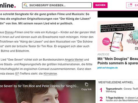Sing2G7 in the German press: