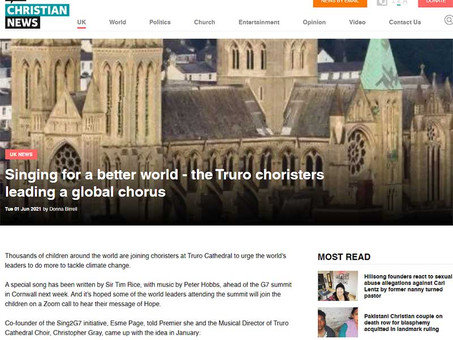 Christian News: Singing for a better world - the Truro choristers leading a global chorus