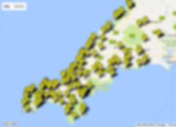 Cornwall Hugs Grenfell Map of Properties