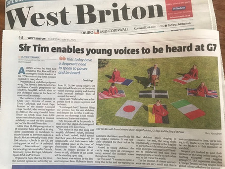 West Briton: Sir Tim enables young voices to be heard at G7