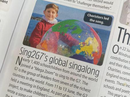 The Week Junior: Sing2G7's Global Singalong, June 26