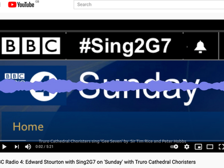 Sing2G7 Radio 4 'Sunday' Interview with Edward Stourton May 23rd