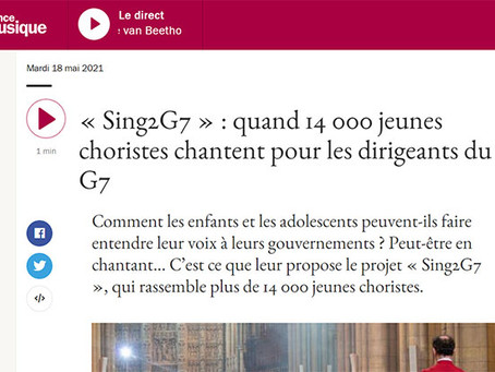 Sing2G7 in France Musique