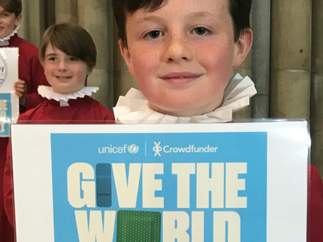 PR 05: Unicef, Crowdfunder, Gordon Brown back Truro's Sing2G7 Choristers to 'Give the World a Shot'!