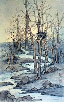 'Wintery trees'