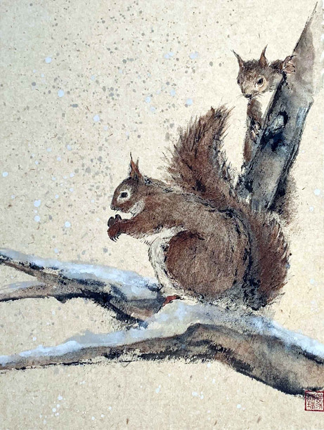 'Two squirrels'