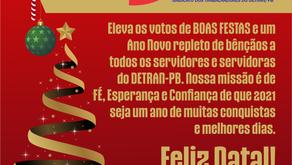 A Diretoria do SINDTTRAN-PB deseja aos atuais e ex-colaboradores do DETRAN-PB um Feliz Natal!