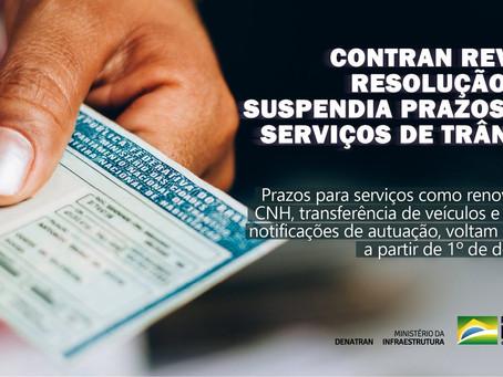 Contran revoga resolução que interrompia prazos de serviços de trânsito