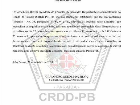 CONVOCAÇÃO CRDD/PB