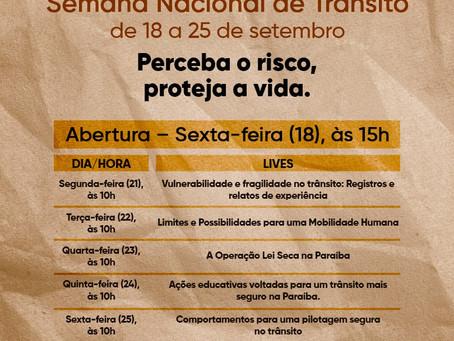 Semana Nacional de Trânsito de 18 a 25 de setembro