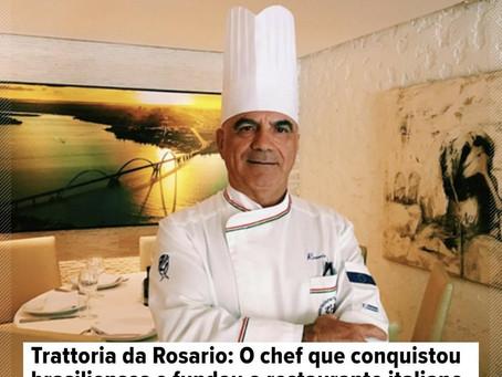 Renomado Chef Rosário, dono do  elegante restaurante italiano em Brasília aprovou Azeite Dona Berta.