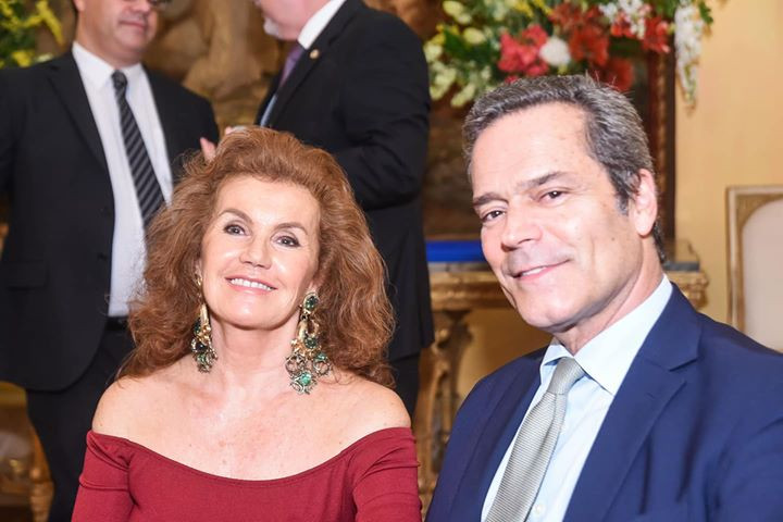 Anfitriões: Embaixador Jaime Leitão e Embaixatriz Maria Eduarda