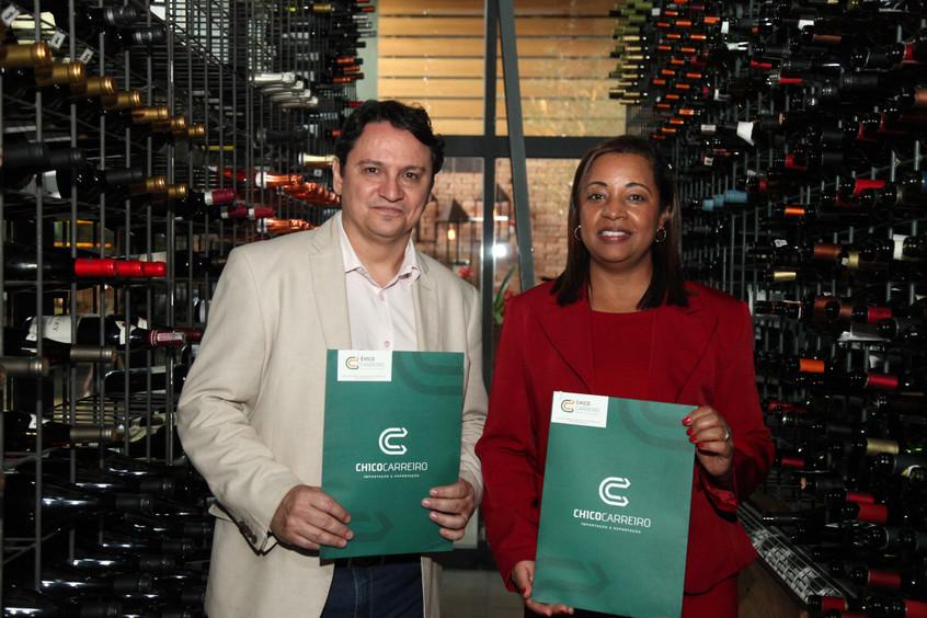 Marcelo Copello e Marly Galvao na Adega do Restaurante Rubaiyat Brasilia