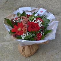 Bouquet deuil  rouge
