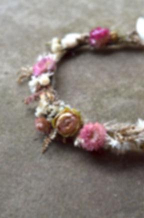 couronne fleurs sechees pas cher rennes cadeau decoratio murale