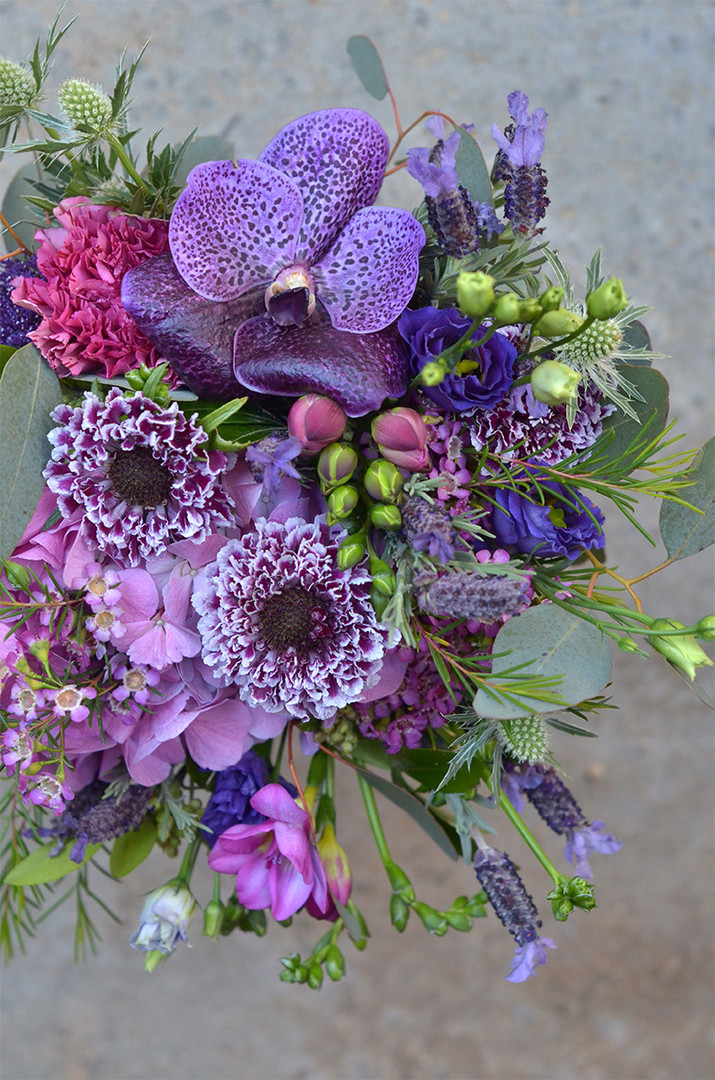 Bouquet de fleurs violette