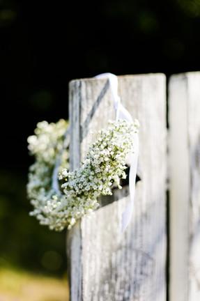 couronne de fleurs fraîches