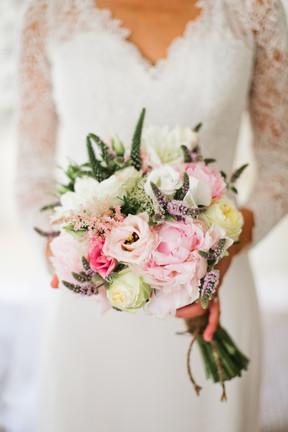 Bouquet de mariée champêtre élégant bohême