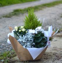 Coupe de plantes fleuries deuil