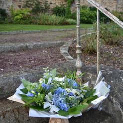 Bouquet rond deuil
