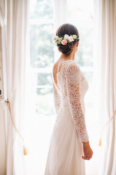 La mariée en robe blanche