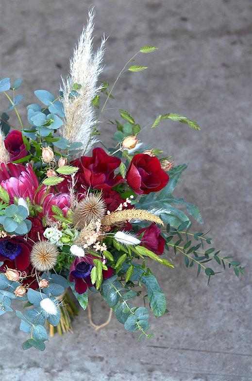 bouquet fleurs sechees et fleurs fraiches geveze lentre pots