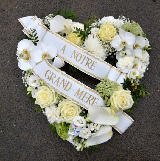 Coeur blanc deuil